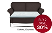 Evie Fixed Medium Sofa Bed - Leather