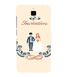 EPICCASE Getting married Mobile Back Case Cover For Xiaomi Mi4 (Designer Case)