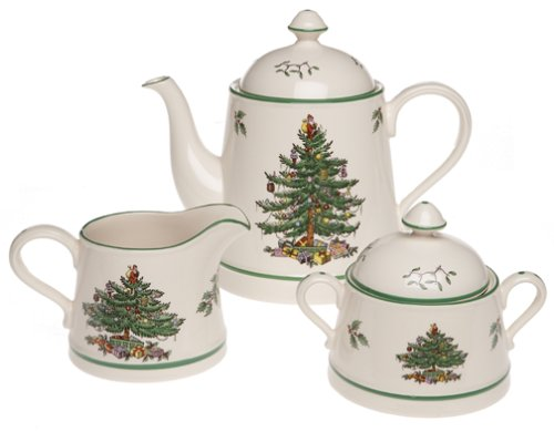 Spode Christmas Tree 3-Piece Tea Set Best Deals