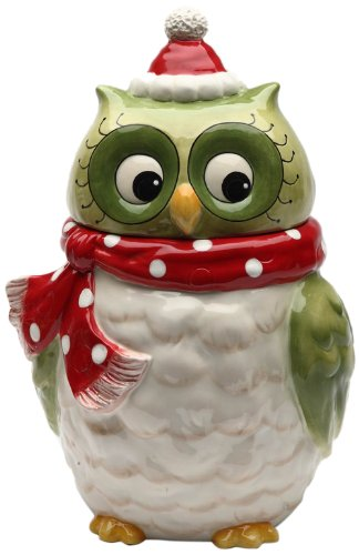 Cosmos Gifts 10901 Owl Design Ceramic Holiday
