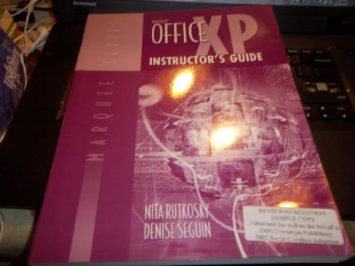 Microsoft Office Xp Instructor's Guide (MARQUEE SERIES)