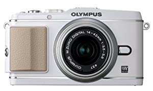 Olympus PEN E-P3 12.3 MP Live MOS Interchangeable Lens Camera with 14-42mm Zoom Lens (White) (Old Model)