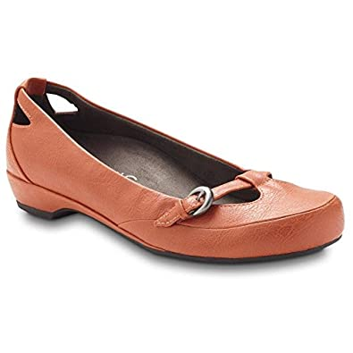 Vionic Sophia Buckle Flat by Orthaheel Orange - 5