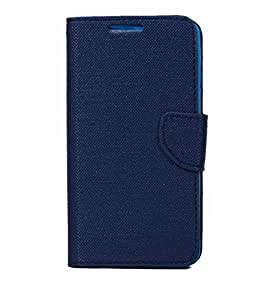 Navy Blue Exclusive Flip Case Cover For Lava Iris X5