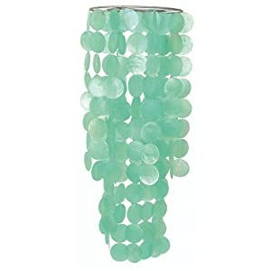 Turquoise Capiz Chandelier Light Shade - Fair Trade Product