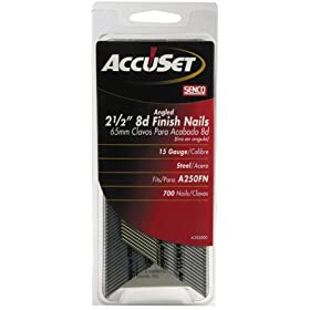 Senco A302500 15-Gauge x 2-1/2 Inch Bright Basic Finish Nail