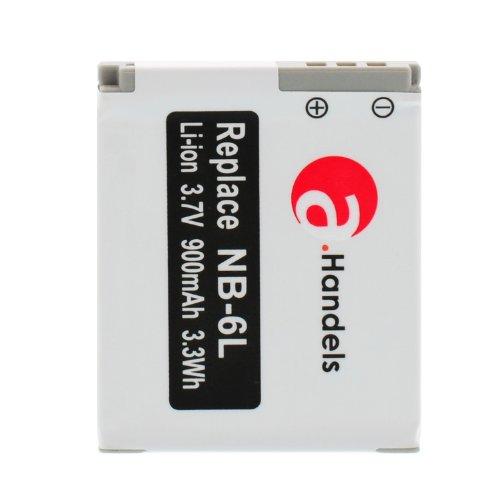 Original a.Handels NB-6L Akku für Canon Ixus 310 PowerShot 900mAh D20 S95 S120 SX170 IS SX240 HS SX260 HS SX270 HS SX280 HS SX500 HS SX D20 IS S 95 120 170 240 260 270 280 500