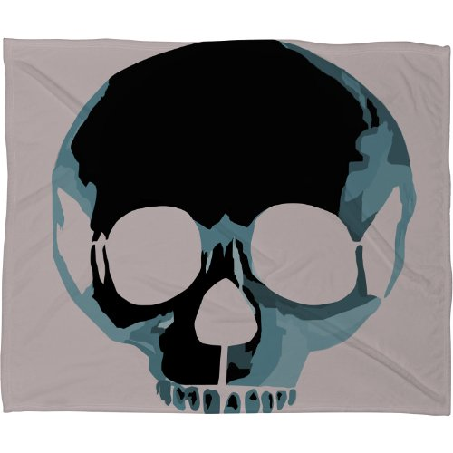 Skull Throw Blanket back-1078077