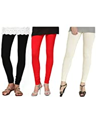 Kamaira Leggings Combo Black, Red & Cream