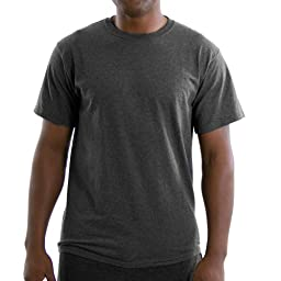 Russell Athletic Men\'s Basic T-Shirt, Black Heather, X-Large