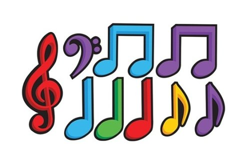 DANCING MUSIC NOTES Cutout Assortment - 1