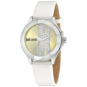 Just Cavalli R7251592501 Women's Silk Gold Dial Watch