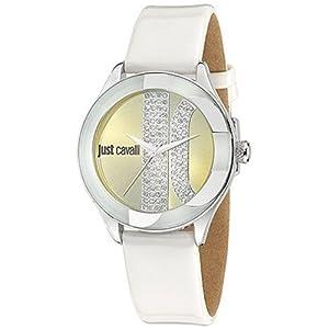Just Cavalli R7251592501 Women's Silk Gold Dial Watch