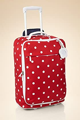 Girls' Polka Dot Upright Trolley Bag - Small