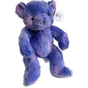 "Beverly Hills Teddy Bear Fluorescent Teddy Bear Lavender Purple 16"""