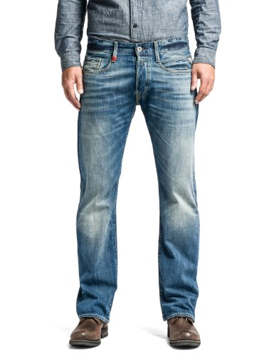 Replay Herren Boot-Cut Jeans Billstrong, Gr. W30/L30 (Herstellergröße: 30), Blau (Blue Denim) thumbnail