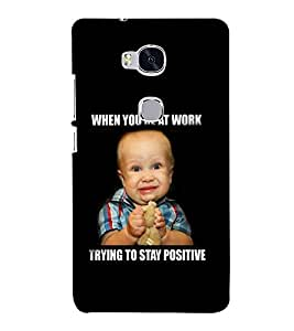 printtech Cool Quotes Baby Back Case Cover for Huawei Honor 5X :: Huawei Honor X5 :: Huawei GR5