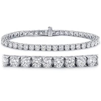 2-12 Carat Classic Tennis Bracelet 14K White Gold Value Collection