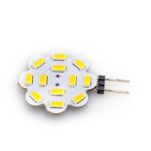 Lqz Flower G4 4W Smd5730 Corn Bulb Led Light Dc 12V High Brightness Lamp Warm White (2800K-3200K)
