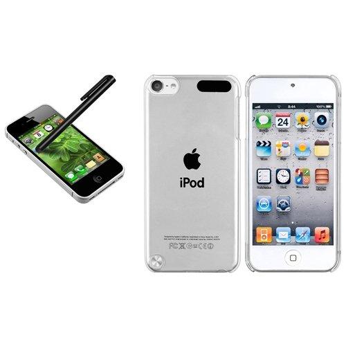 Transparent Cristal Housse Coque+Noir Touch Ecran Pour iPod Touch iTouch 5 5th 5G