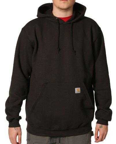 Carhartt K121 Hooded Sweatshirt Black Mens Hoodie Top