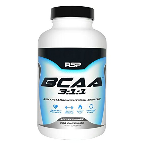RSP Nutrition BCAA 3: 1: 1 Caps - 200 Capsules