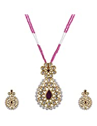 Ashapura Gold Plated Necklace With Dangle & Drop Earrings For Women - P0341
