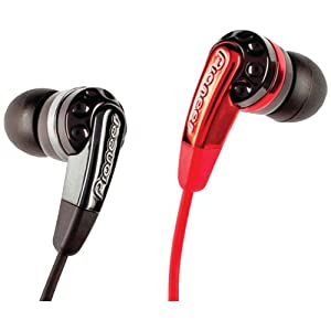 Pioneer SE-CL721-K Headphones, Black/Red (Discontinued by Manufacturer)