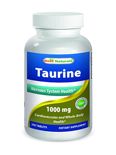 Best Naturals Taurine 1000 Mg Tablet, 250 Count (1000 Mg Taurine compare prices)