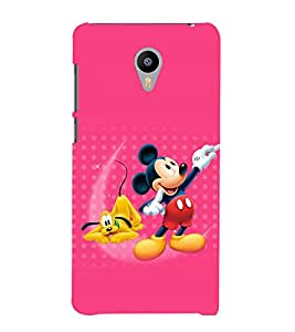 printtech Mickey Mouse Pluto Disney Back Case Cover for Meizu m2 note