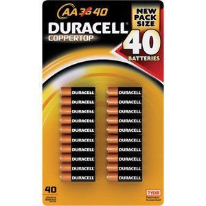 Duracell Coppertop 40 AA Batteries