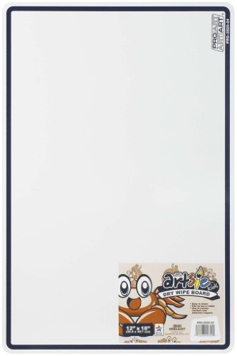 Pro Art White Marker Board, 12-Inch by 18-Inch