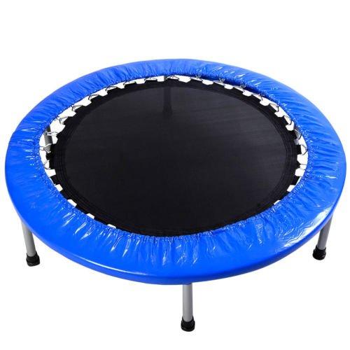 new mini band trampoline 38 safe elastic exercise workout w padding springs trampoline. Black Bedroom Furniture Sets. Home Design Ideas