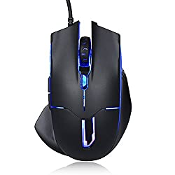 Xcords (TM) ZM700 Optical Programmable Gaming Mouse 2500DPI Ergonomic Wired Mice with 7 Soothing LED Colors, 6 buttons for Laptop/PC/Desktop Computer (Black)