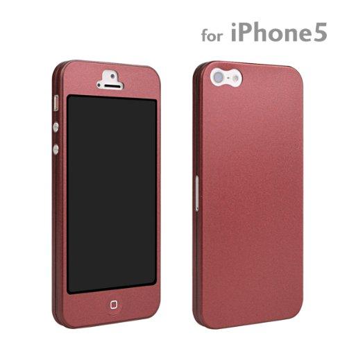 セントリックス SoftBank au iPhone5 専用 Nano Skin iPhone ケース カバー ジャケット (ワインレッド)
