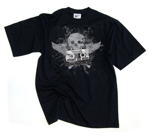 DMC Technics Pirate Mix Tape DJ Mens T-Shirt Black D052M Medium