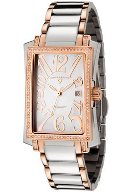 Swiss Legend Women's 10034-SR-22 Bella Diamond Accented Stainless Steel and Rose Gold-Tone Trim Watch