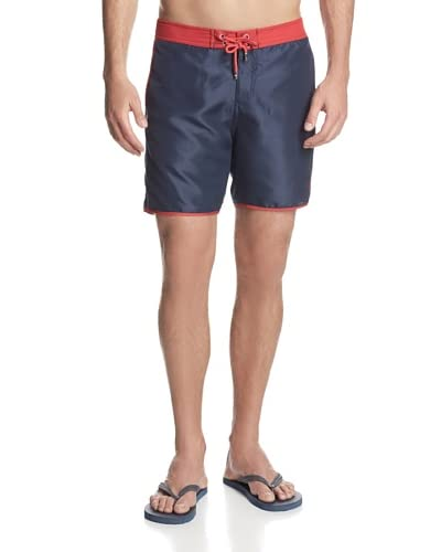 Mr. Swim Men's Contrast Piping with Logo Board Shorts