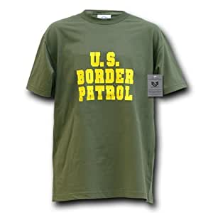 Rapiddominance Border Patrol Law Enforcement Tee, Olive, 2X-Large