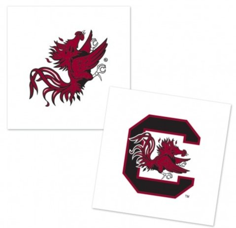 NCAA Official University of South Carolina Gamecocks 4-pack Tattoos
