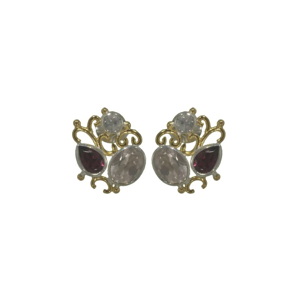 22k Gold Overlay Sterling Silver Earrings by Michou