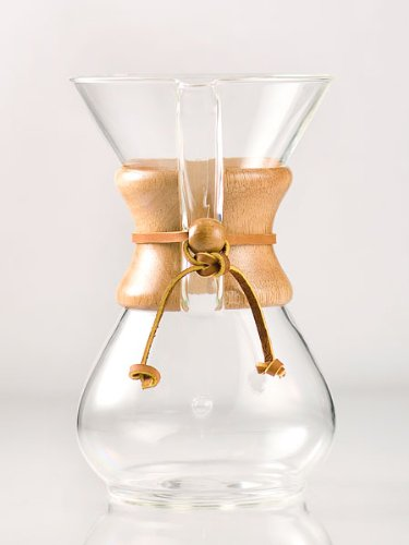 'Chemex 6-Cup Classic Series Glass Coffee Maker' from the web at 'http://ecx.images-amazon.com/images/I/41ZYs-tfxDL.jpg'