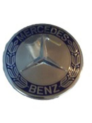 """Set of 4 """"Like New"""" take-off Mercedes AMG OEM Blue Badge Wheel Center Caps fits ALL 15"""" and up OEM MBZ wheels & ALL 17"""" and up AMG"""