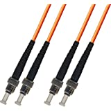 1M Multimode Duplex Fiber Optic Cable (62.5/125) - ST to ST