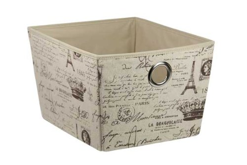 Home Basics Non-Woven Storage Box, Large, Paris (Paris Storage Box compare prices)