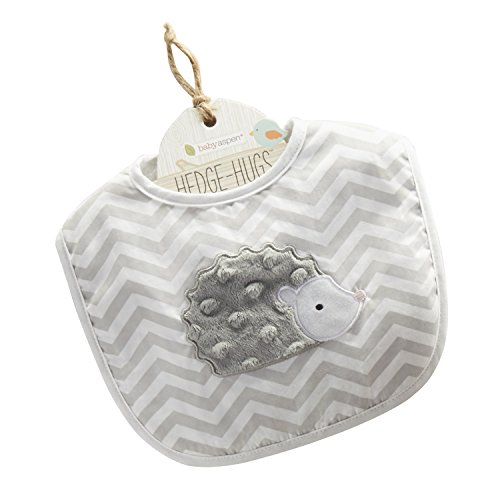 Baby Aspen Hedgehugs Bib, Gray/White