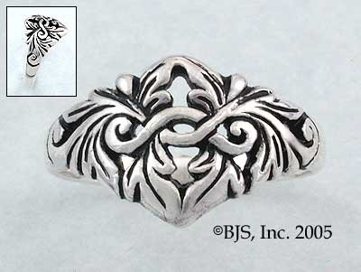 Elven Princess Ring - Sterling Silver Flower Jewelry