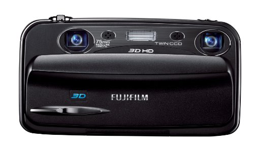 Fujifilm FinePix REAL 3D W3 10 MP Digital Camera with Dual 3x Optical Zoom Lenses (Black)