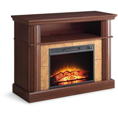 Better Homes And Gardens Cherry Media Fireplace For Tvs Up To 54 Flame With Or Without Heat