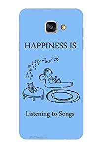MiiCreations 3D Printed Back Cover for Samsung Galaxy A7 (2016),Happiness Is Listening To Songs